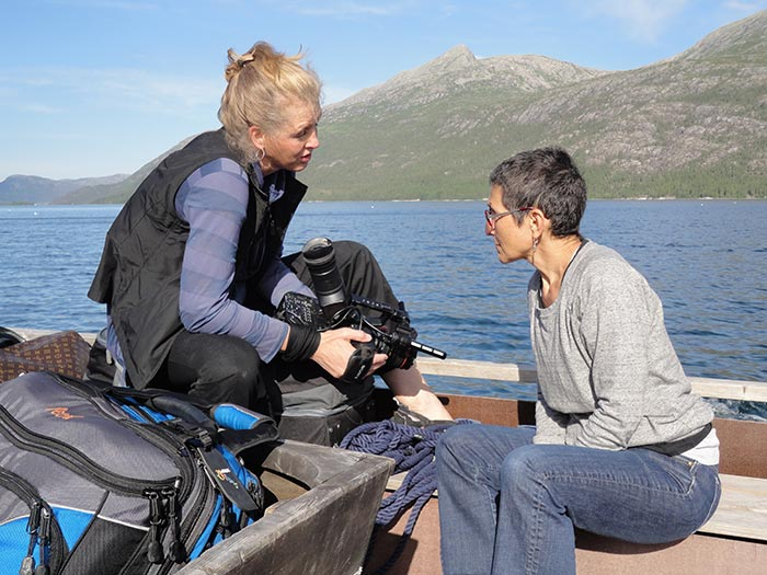 Kimberly Reed and Laura Kaminsky in Norway